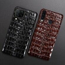 Cassa di cuoio Del Telefono Per Huawei Honor 30 30S X10 20 20i 10 10i 9 8 Lite 9X 8X Max 7X 7A V30 Pro V20 V10 Coccodrillo Coda Della Copertura Posteriore