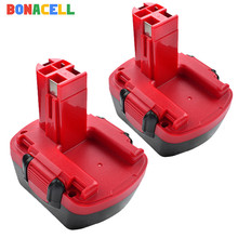 Bonacell 2Pcs 12V 3.0Ah Ni-MH Battery for Bosch Drill GSR 12 VE-2,GSB VE-2,PSB VE-2, BAT043 BAT045 BTA120 26073 35430