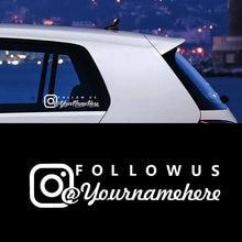 Nome personalizado etiqueta do carro personalizado instagram facebook conta decalque do vinil para o corpo da janela do carro decoração adesivos