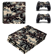 Camo Camouflage Style Skin Sticker for PS4 Pro Console And Controllers Decal Vinyl Skins Cover YSP4P-3377