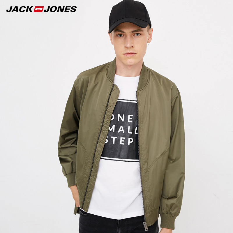Jack  Jones Mens Money Printed Baseball Jacket|  218321549