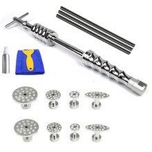 Ferramenta de reparo do corpo do carro kit de remoção de dente paintless dent repair toolkit remoção levantador slide martelo extrator guias