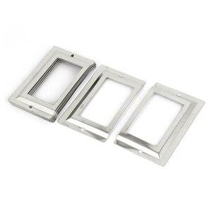 Почтовое отделение библиотека ящик для файлов металлическая метка держатель, серебряный тон, 10 шт.