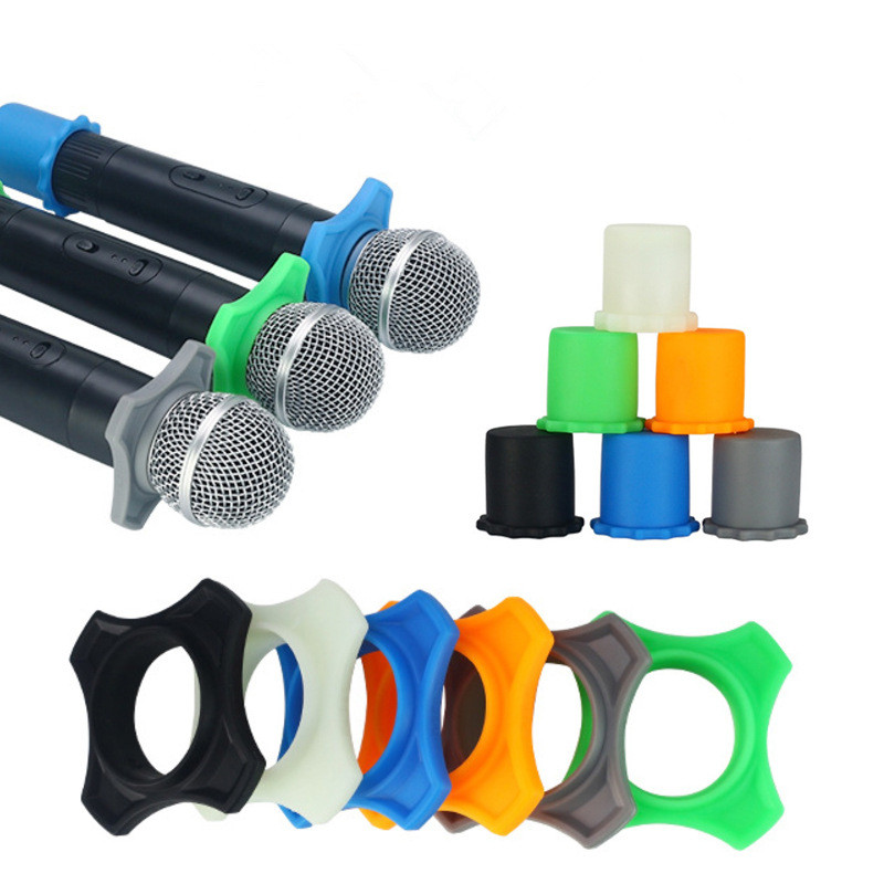 1 Set New Silicone Microphone Anti-Rolling Ring Protection Bottom Rod Sleeve Holder for BBS MIC KTV Device - ANKUX Tech Co., Ltd