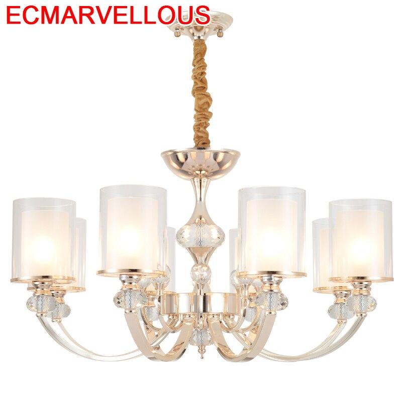 De Techo Colgante Moderna Fixtures Lustre Dining Room Crystal Loft Lampen Modern Luminaire Suspendu Luminaria Pendant Light Pendant Lights    - title=