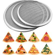 6-22 дюймов повторно использовать антипригарная алюминиевая сетка для пиццы макаронные изделия противень металлическая сетка посуда кухонные принадлежности для выпечки