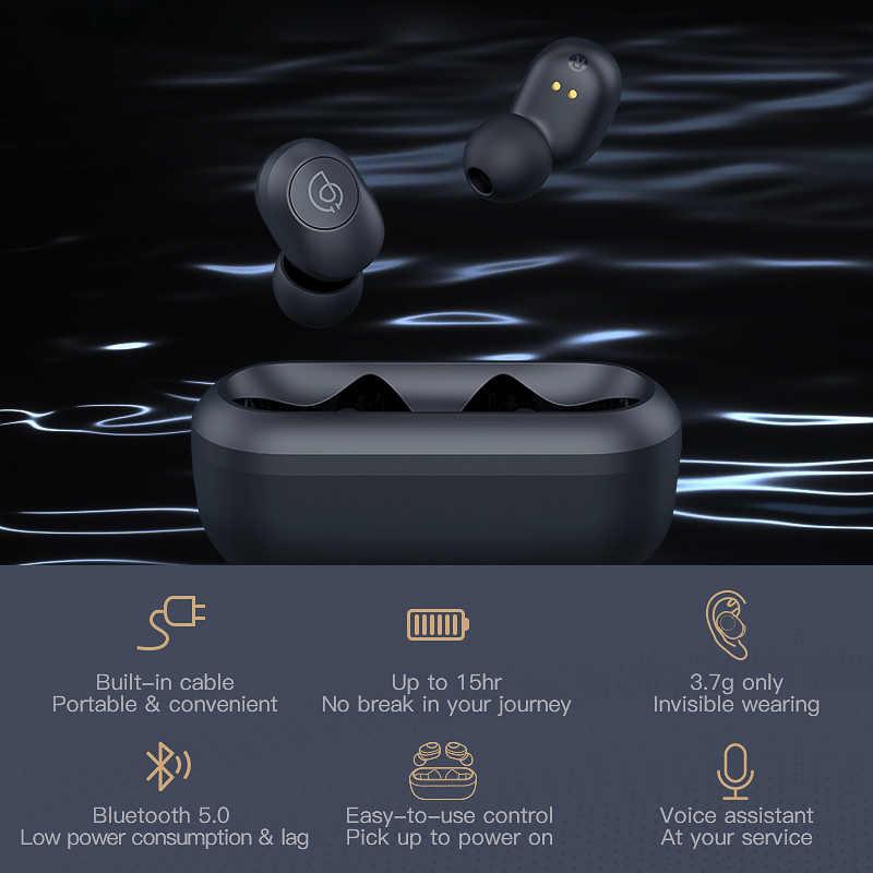 Auriculares estéreo Bluetooth Haylou GT2 3D, miniauriculares inalámbricos TWS de sincronización automática