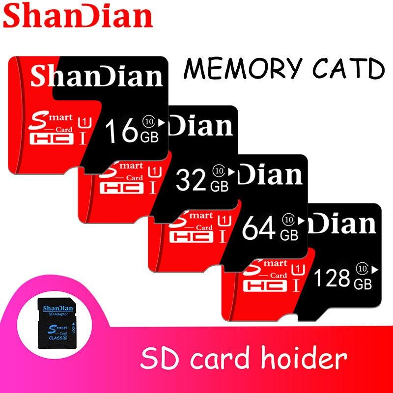 SHANDIAN High Quality  Micro SD Card 4GB 8GB 16GB 32GB 64GB Memory Card TF Card Free SD Adapter Retail Package