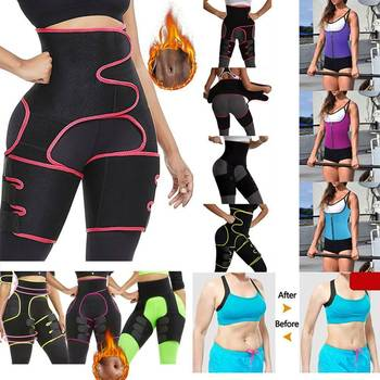 Yoga WAIST Woman Sweat Thigh Trimmers Leg Shaper Fajas Neoprene Slimming Belt Control Panties Fat Burning Wraps Thermo Belt