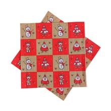 20шт новинка мода Рождество салфетка Санта Клаус снежинка бумага салфетка Рождество украшения для дома Рождество стол ткань украшение