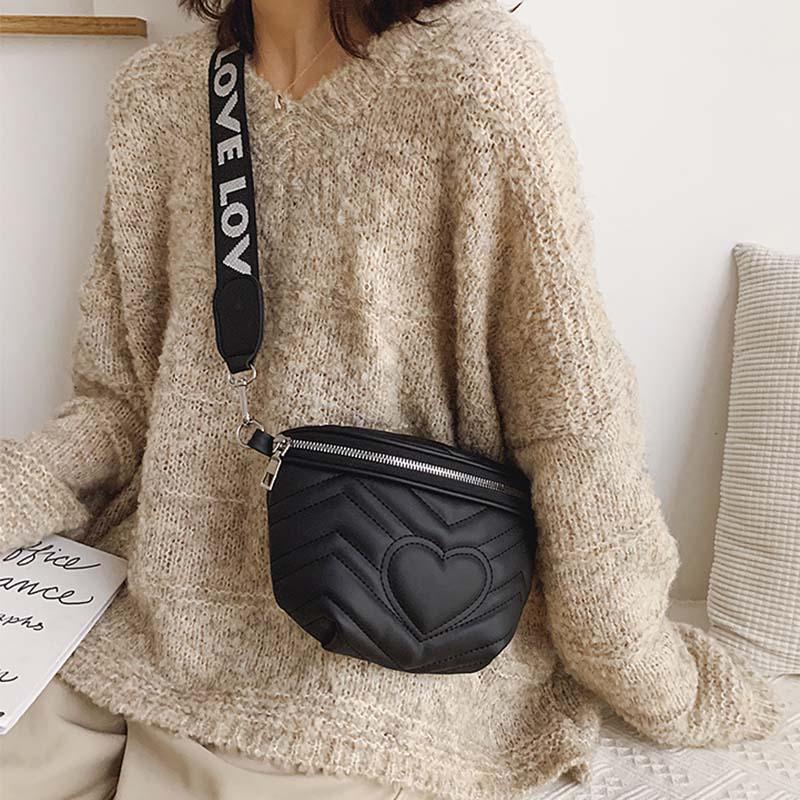 New Fashion Waist Bag Women Leather Belt Bag Women Fanny Pack Zipper Hip Bag High Capacity Banana Bag Shoulder Kidney Bags