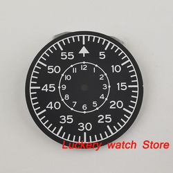 35.5mm black sterial dial luminous Watch Dial fit for Miyota 8215 821A Mingzhu 2813 Automatic movement-BP61