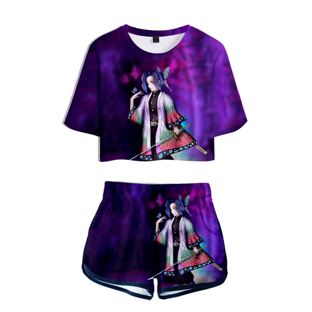 Demon Slayer Kimetsu no Yaiba 3D Short T-shirt Super Shorts Set