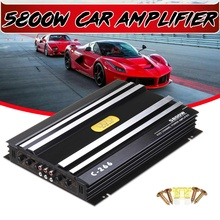 5800 ватт автомобильный аудио усилитель мощности 4 канала 12 В автомобильный усилитель звука для автомобиля для автомобилей разъем Усилитель-сабвуфер