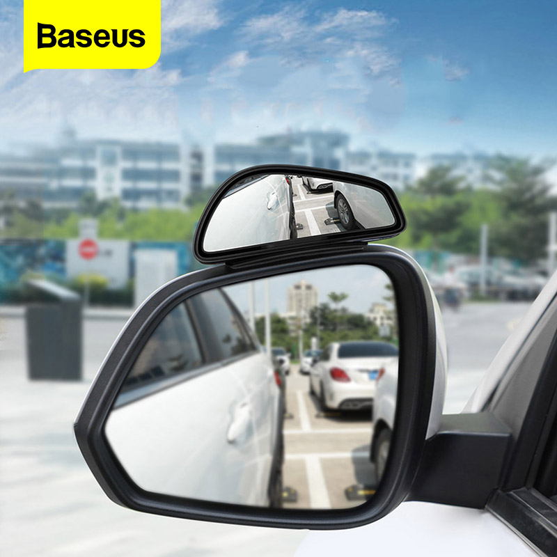 Baseus 2pcs Car Blind Spot Mirror Convex Glass Wide Angle Car Parking Mirror High-Definition Vehicle Rear View Blind Spot Mirror