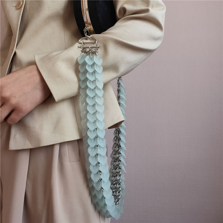 New Updating Jelly Color Women Acrylic Resin Chain Bag Strap Easy Matching Lady Shoulder Bag Belts Accessories