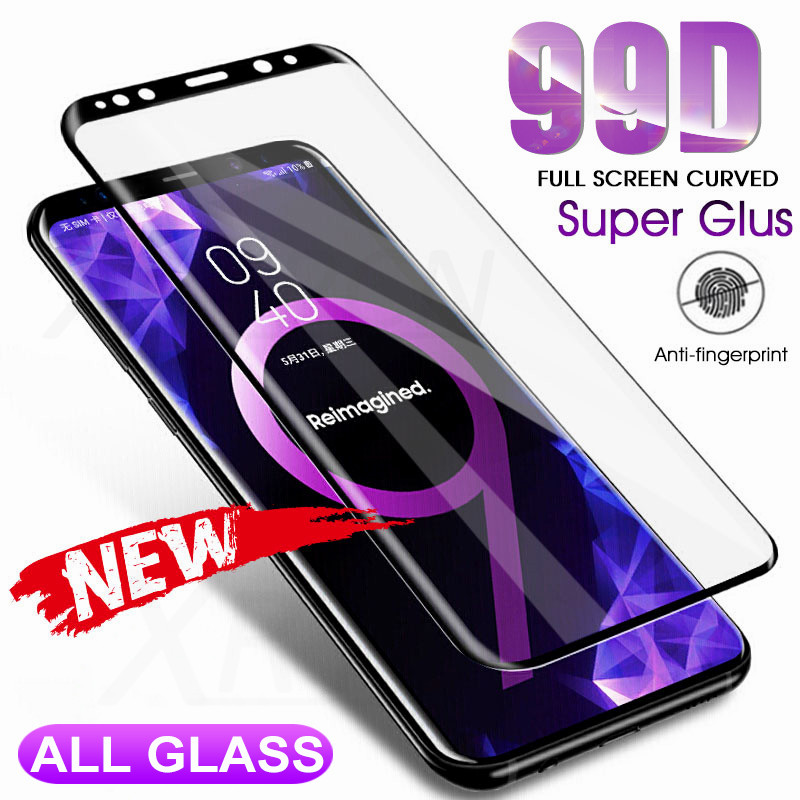 99D Curved Tempered Glass Film On The For Samsung Galaxy Note 8 9 S7 S6 Edge S8 S9 Plus S9 Screen Protector 9H Protective Glass