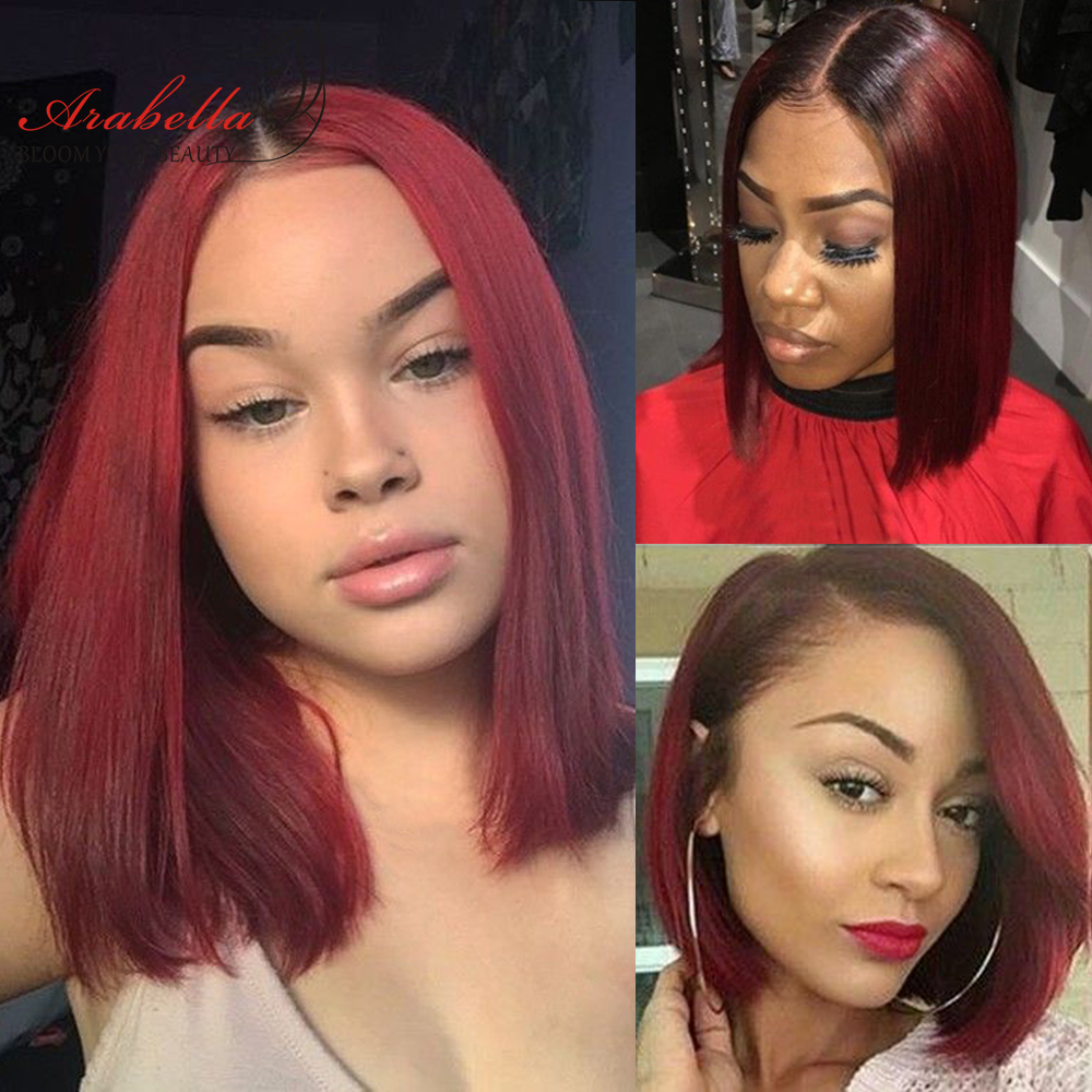 Blonde Straight Bob Wig Lace Front Wig 100%  Wigs 180% Density Arabella   Hair 613 Lace Front Wig Bob 2
