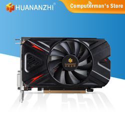 HUANANZHI RX 550 4GB Video Cards GPU AMD Radeon RX550 4GB GDDR5 Graphics Cards PC Desktop Computer Game Map PCI-E X16