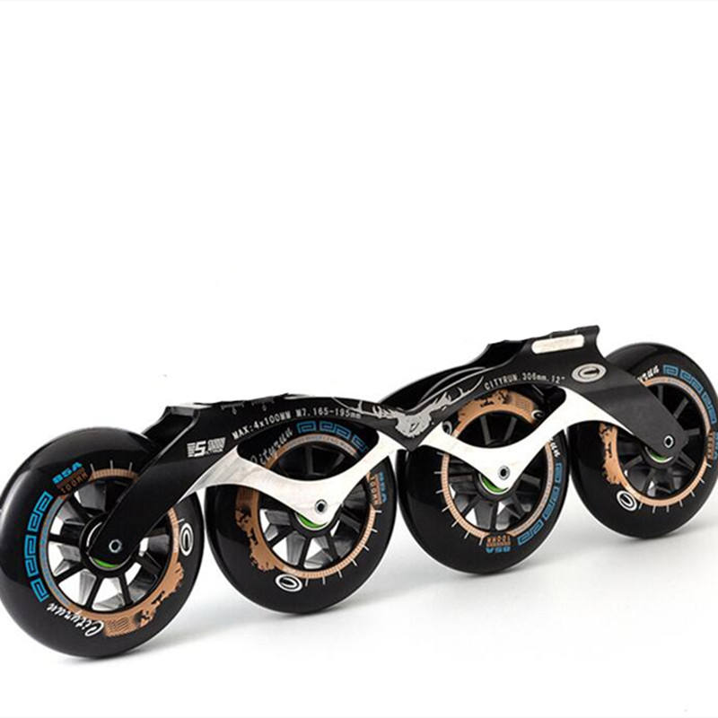 1 pair 4X110mm 4X100mm 4X90mm inline speed skates frame with 110mm 100mm 90mm speed skating wheel ba