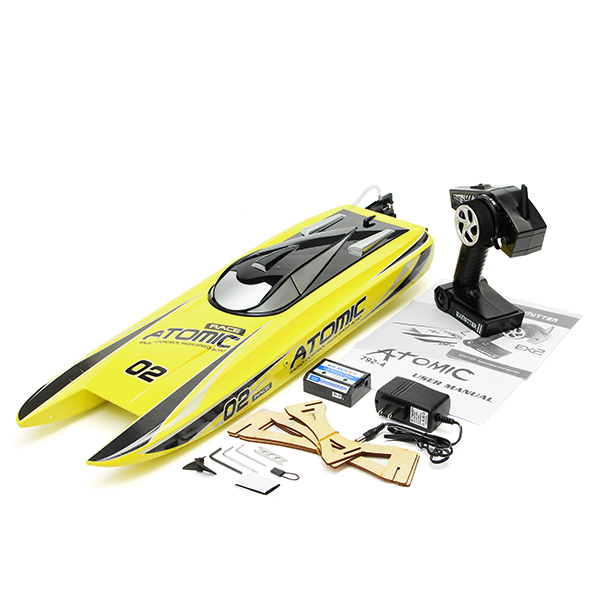 Volantex V792-4 70cm RC Boat Radio Control Boat ATOMIC 2.4Ghz RTR 60km/h High Speed Brushless RC Boat Vehicle Toys For Children