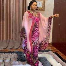 MD Boubou Africain Femme 2021 Africain imprimer Dashiki vêtements grande taille femmes robe manches chauve-souris Ankara robes fille robe de soirée