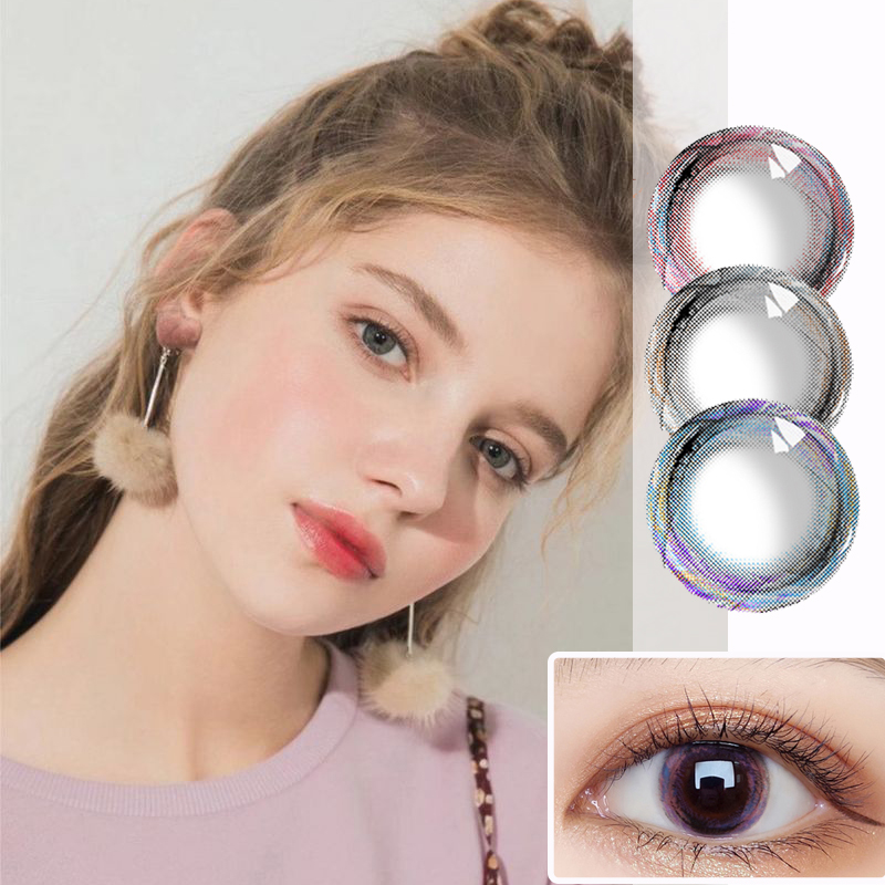 Beautiful Pupil Color Contact Lenses Monthly Throw Female Path 14.5mm Cute Multicolor Party Gift Cartoon Girl Decoration Cosplay