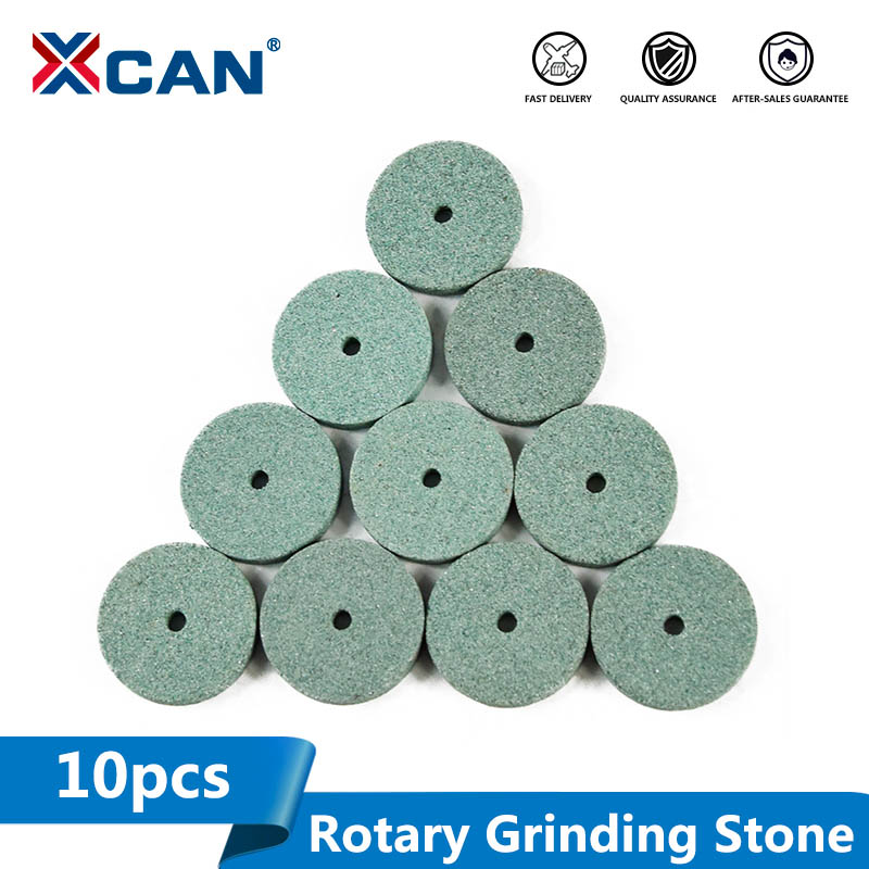 XCAN 10pcs Green Aluminum Oixde Grinding Stone Sheet For Dremel Rotary Tools