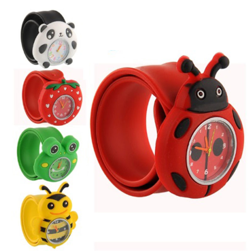 Hot Sale Trendy Cartoon Kids Watches Animal 3D Dial Children Quartz-Watches Sport Bendable Rubber Strap Wristwatch Dropshipping