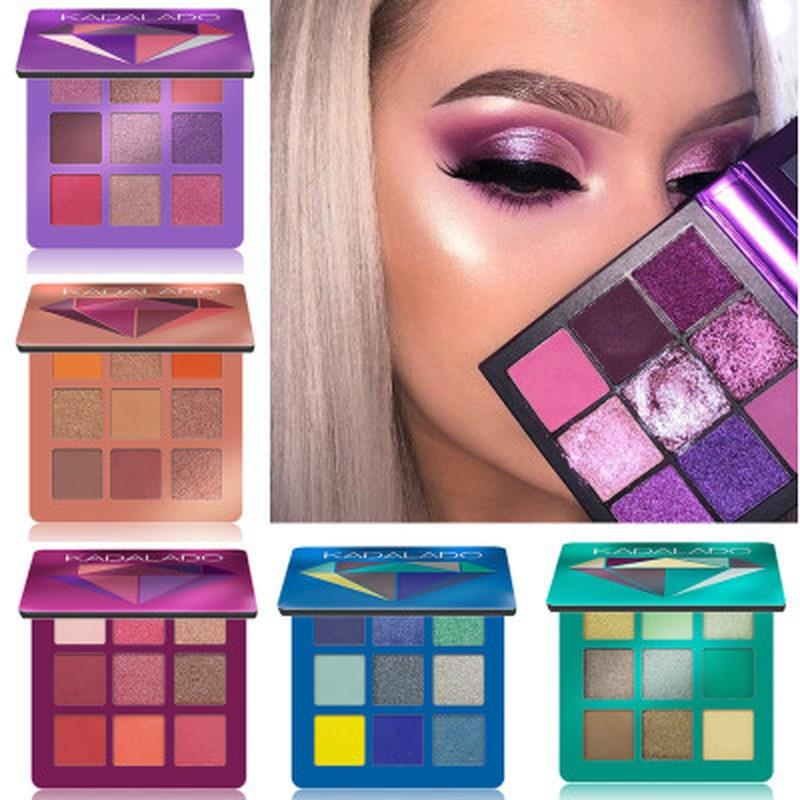 9 Colors Glitter Eyeshadow Makeup Pallete Matte Eye Shadow Palette Shimmer And Shine Diamond Eyeshadow Powder Pigment Cosmetics