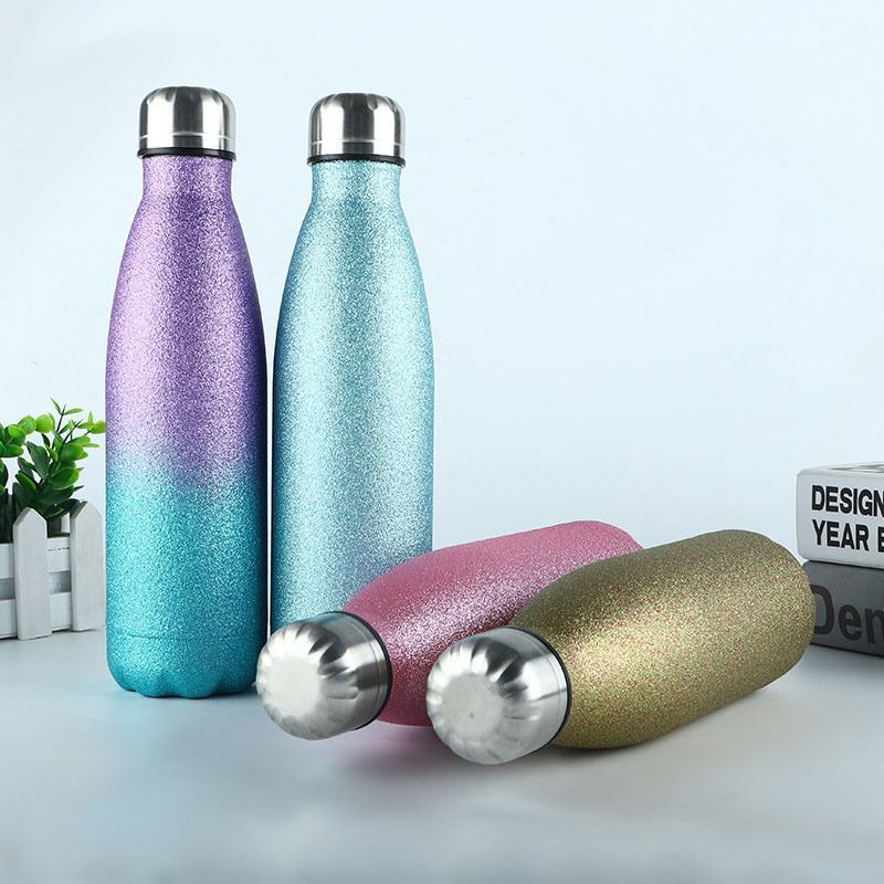 Stainless Steel Flask Bottle Creative Insulation Cup Gym Sport Travel 500ml New