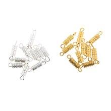купить 20PCS Screw Lock Clasps Connectors for Necklace /Bracelet Jewelry Findings дешево
