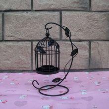 Lantern-Lamp-Decor Candlestick Wedding-Bird-Cage Romantic Home European Iron for Dinner