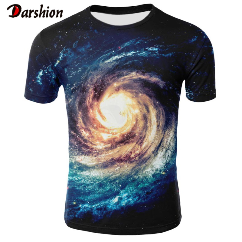 Hot Sell 3D Print Starry Sky Tshirt Men Summer Casual Short Sleeve Tops Tees O-Neck Tshirt Fashion Streetwear Tshirt Men Clothes