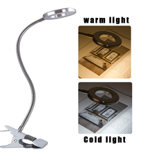Creative 2 in 1 Clip Table Lamp Design USB Adjustable Cold White Desk Light for Eyebrow Tattoo Nail Art Beauty Makeup Accessory beauty lamp tattoo lamp on the ground portable photo face cold light no shadow tattoo and other beauty eyelash tattoo eyebrow