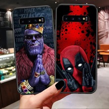 Marvel Venom Iron Man Spider-Man Batman Deadpool Soft Black Cover Phone Cases For Samsung Galaxy S7 Edge S8 S9 S10 Plus Note 9