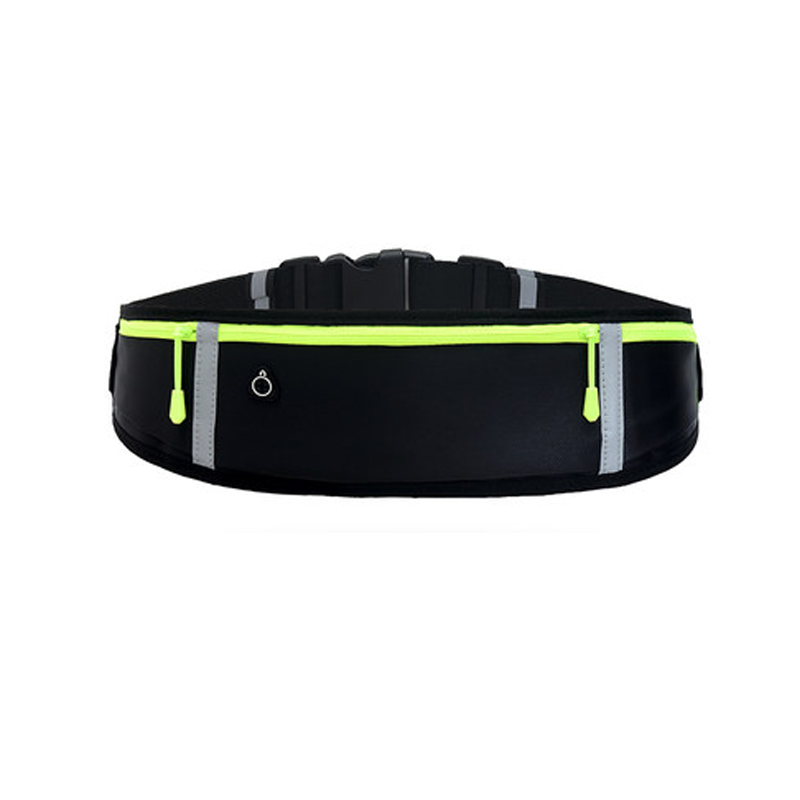 Running Waist Bags Waterproof Phone Container Jogging Hiking Gym Fitness Bag 3 Pocket Reflective Strip Design Running Belt Waist