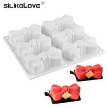SILIKOLOVE – moules en Silicone pour Mousse, Dessert, plateau en forme de nœud papillon, décoration de gâteaux, cuisson pour chocolat non collant
