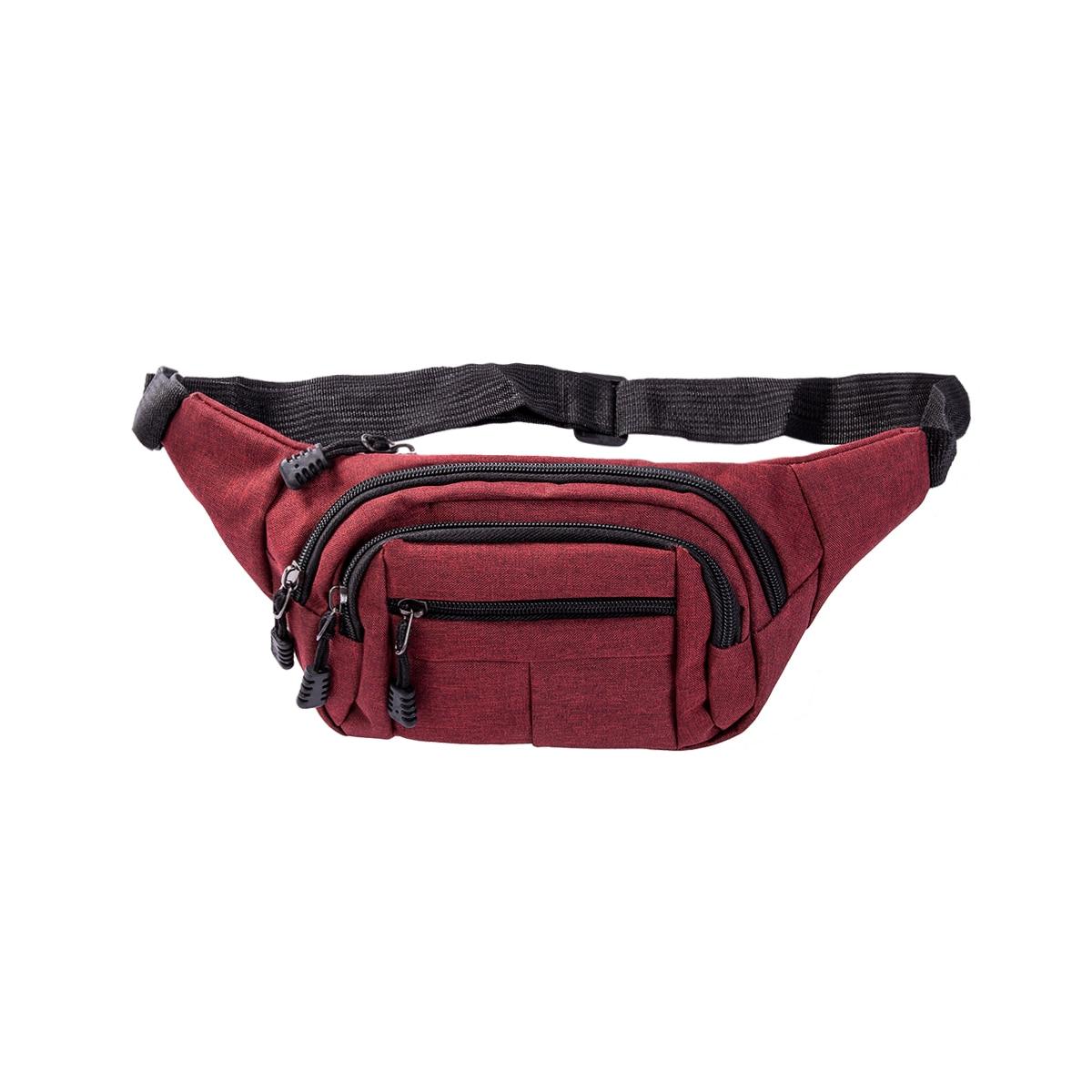Travel Bum Bag Fanny Pack Waist Bag Zipped Outdoor Sports Shoulder Bag Pouch A++