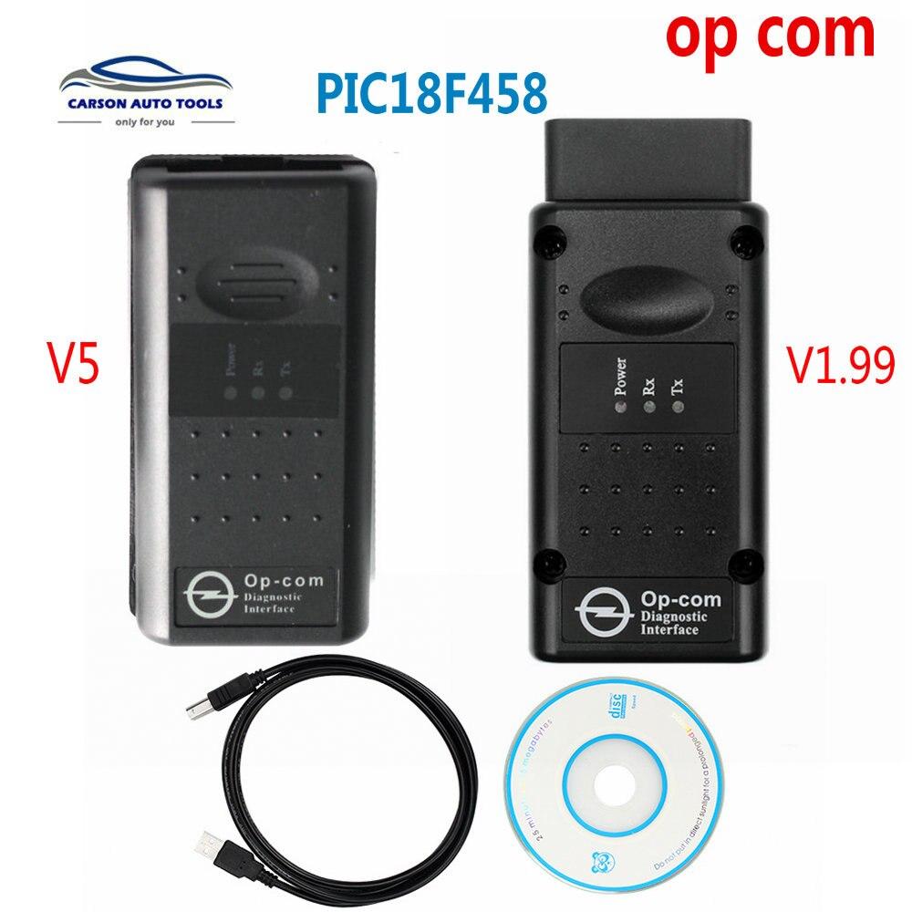 Melhor OP-COM OP com Original Chip Ferramenta Auto Diagostic para Opel Opcom Interface de Diagnóstico Versão V5 V1.99 placas