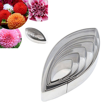 6Pcs/Set Stainless Steel Cut Mould Water Lily Lotus Petal Shaped Mold Cutter Polymer DIY Clay Tools Cake Tools M stainless steel phalaenopsis cutting mould clay mould ceramic polymorph modelismo fimo polymer clay flower cutter tools