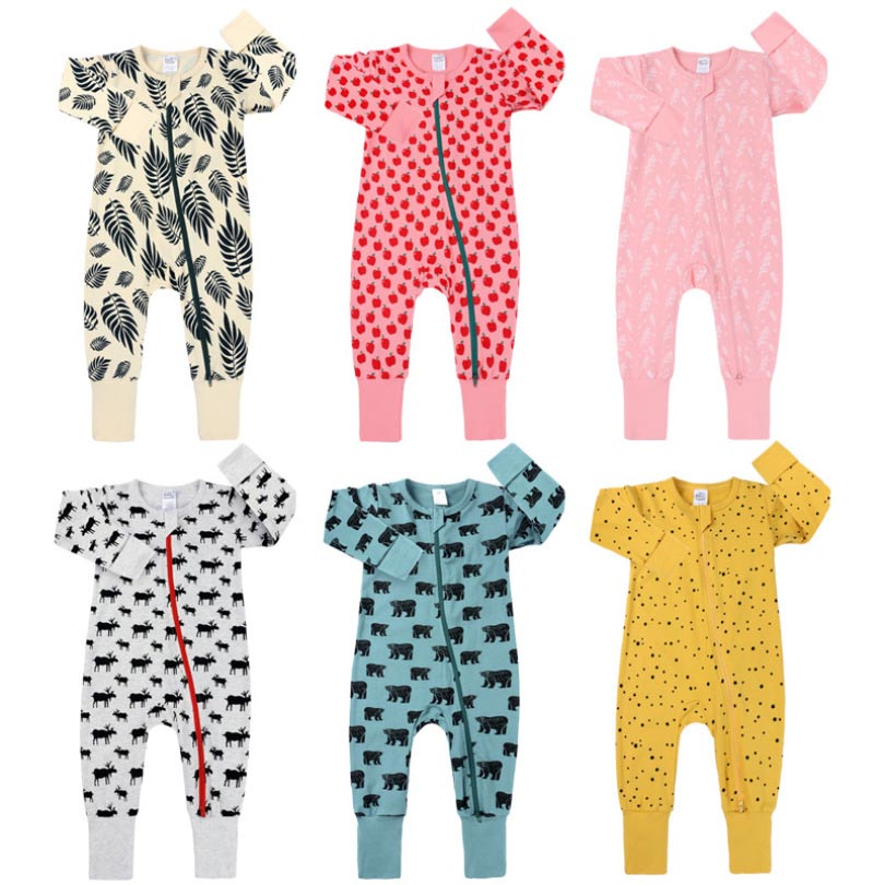 Cute Kids Newborn Baby Boy Girl Cotton   Romper   Cartoon Print Long Sleeve Jumpsuit Outfit Summer Casual Clothes 3M- 3T Casual