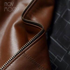 Image 5 - Vestes daffaires en cuir homme, 4 couleurs, manteau en peau de mouton véritable, chaqueta moto hombre LT047