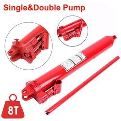 Samger hidráulico jack 8ton carro hidráulico longo ram alta elevador manual do motor grua cherry picker único duplo bomba ferramentas