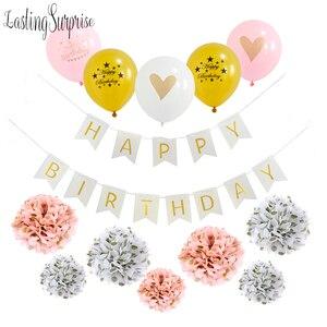 Image 5 - หัวใจพิมพ์ลูกโป่งสีขาวสีดำสีชมพูลูกโป่งConfettiบอลลูนBaby Shower Birthday Partyเด็กParty Decor