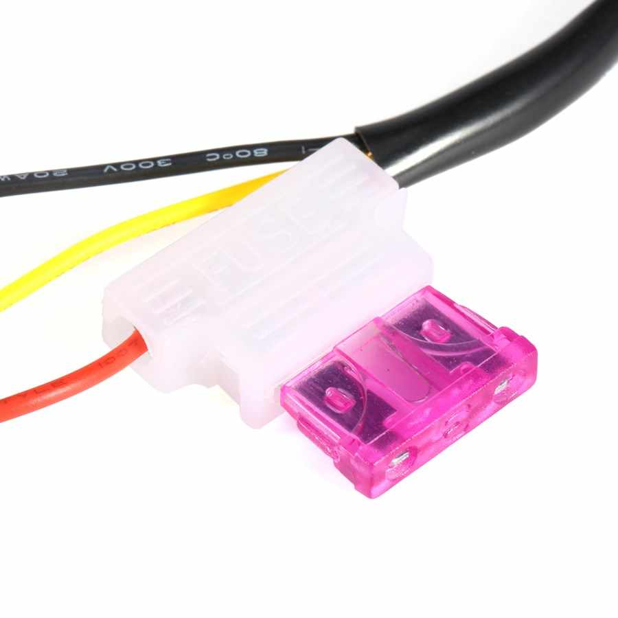 DRL denetleyici oto araba LED gündüz koşu ışıkları denetleyici röle demeti Dimmer On/Off 12-18V sis işık kontrolörü