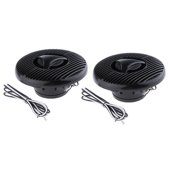 "6.5"" 120W Marine Boat Car Waterproof Full Range Audio Speakers Black"