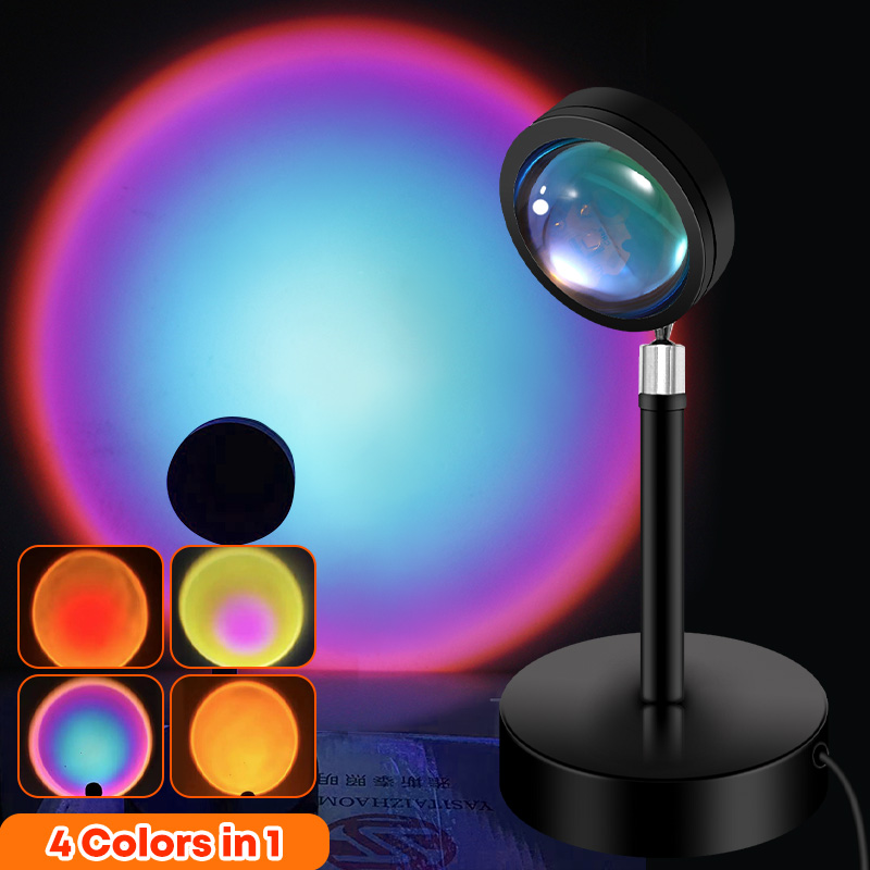 Sunset Lamp Projector Led Night Light for Photography Make up Bedroom Atmosphere Projection Wall Decoration Interior lighting