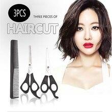 Tijeras de corte de pelo para salón profesional, conjunto de corte de cabello para peluquero, herramienta de estilismo, peine de peluquería, 3 uds.