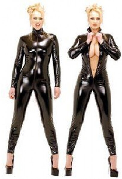 ZT9066 Thick leather catsuit